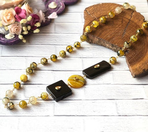 Open image in slideshow, Multicoloured Gemstone Necklace