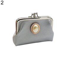Load image into Gallery viewer, MilkySkinForever Women Double Layer Faux Leather Mini Handbag Coin Case Card Holder Purse Wallet