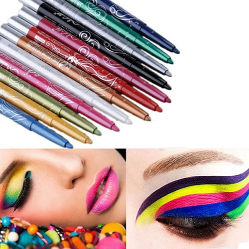 MilkySkinForever 12 Colors Set Eye Shadow Lip Liner Eyeliner Eyebrow Pen Pencil Makeup Cosmetic