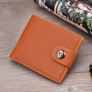 MilkySkinForever Fashion Men Short Faux Leather Wallet Pocket Card Clutch ID Credit Bifold Purse