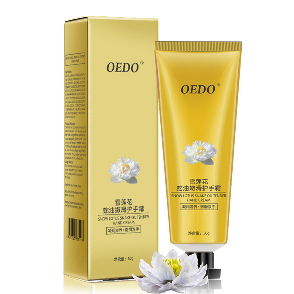 MilkySkinForever Snow Lotus Snake Oil Tender Hand Cream Anti Cracking Moisturizing Skin Care