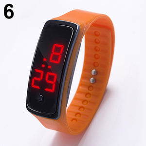 MilkySkinForever LED Watch Fashion Sport Digital Watch Silicone Running Bracelet Wrist Watch
