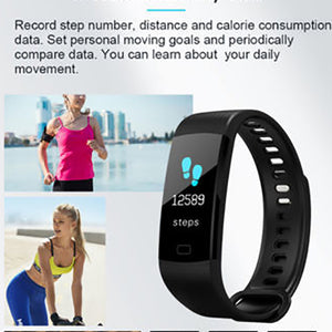 MilkySkinForever Heart Rate Monitor Blood Pressure Fitness Tracker Smart Bracelet Wristband Watch
