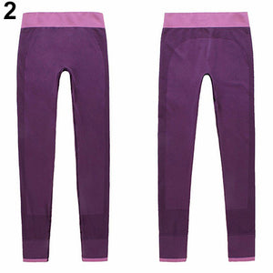 MilkySkinForever Women's Casual Work Out Fitness Breathable Gym Wear Yoga Capris Pants Trousers