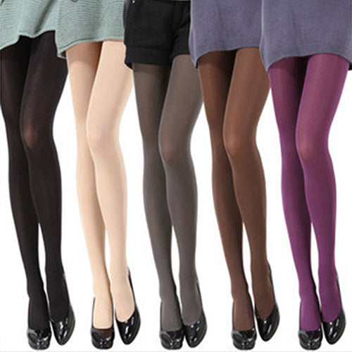 MilkySkinForever Women Fashion Pure Color 120D Opaque Footed Tights Sexy Pantyhose Stockings Socks