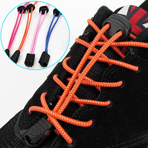 MilkySkinForever 1Pair 1m No Tying Locking Shoe Laces Elastic Adjustable Sports Shoestrings