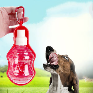 MilkySkinForever Portable Pet Dog Cat Travel Drinking Bottle Automatic Slow Water Dispenser Bowl
