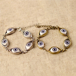 MilkySkinForever Fashion Unisex Angel Evil Demon Big Eye Eyeball Pattern Bracelet Chain Jewelry Gift
