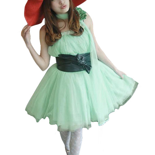MilkySkinForever Women Stylish 5 Layers Tutu Princess Skirt Knee-Length Mini Party Dancing Dress