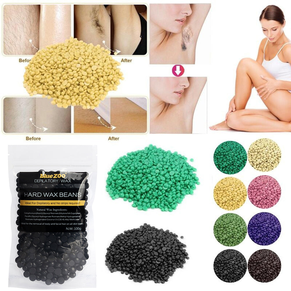 MilkySkinForever 100g Depilatory Hard Wax Beans Painless Waxing Body Bikini Hair Removal Wax