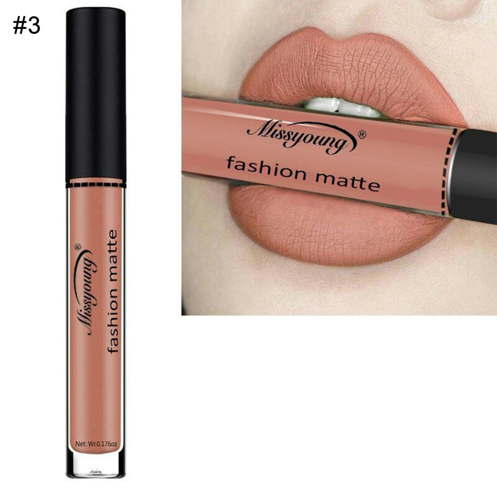 MilkySkinForever Women Waterproof Matte Smooth Lip Gloss Long Lasting Liquid Lipstick Cosmetics