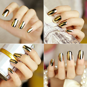 MilkySkinForever 1Sheet/16Pcs Fashion DIY Nail Art Transfer Foil Nail Sticker Tip Decoration