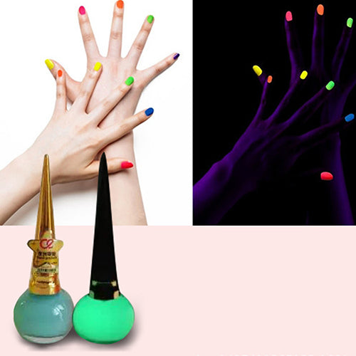 MilkySkinForever Women Candy Color Luminous Fluorescent Matte Nail Polish Glow Neon Nail Varnish