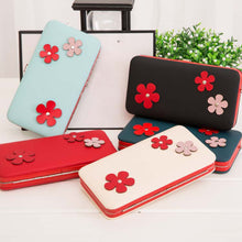 Load image into Gallery viewer, MilkySkinForever Women's Fashion Flower Wallet Faux Leather Long Purse Phone Cash Card Holder