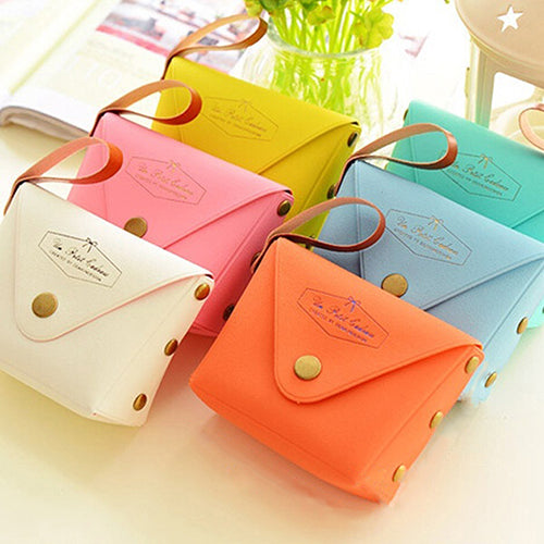 MilkySkinForever Candy Color Cute Portable Creative Mini Wallet Coin Purse Money Bag Card Holder