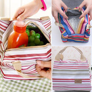 MilkySkinForever Portable Insulated Thermal Cooler Lunch Box Carry Tote Storage Bag Travel Picnic