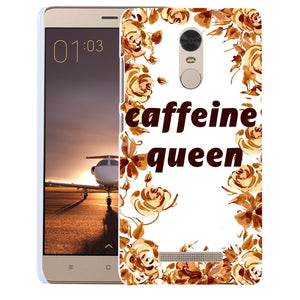 MilkySkinForever Caffeine Queen Letter Print Case Cover for iPhone 8 Samsung Galaxy S8 Huawei P9