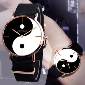MilkySkinForever Unique Silhouette Chart Wristband Quartz Analog Number Free Wrist Watch Gift