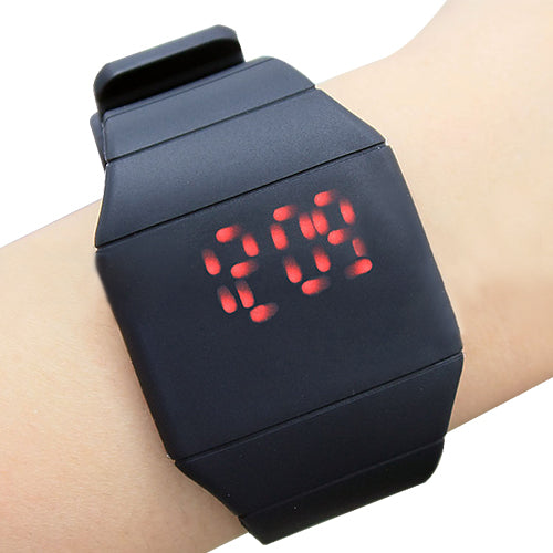 MilkySkinForever Fashion Men Lady Touch Digital LED Silicone Sport Wristwatch Ultra-thin Watch