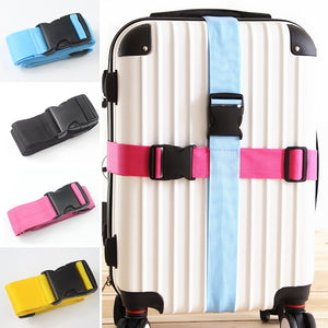 MilkySkinForever Heavy Duty Adjustable Travel Luggage Strap Suitcase Belts Buckle Bag Accessories