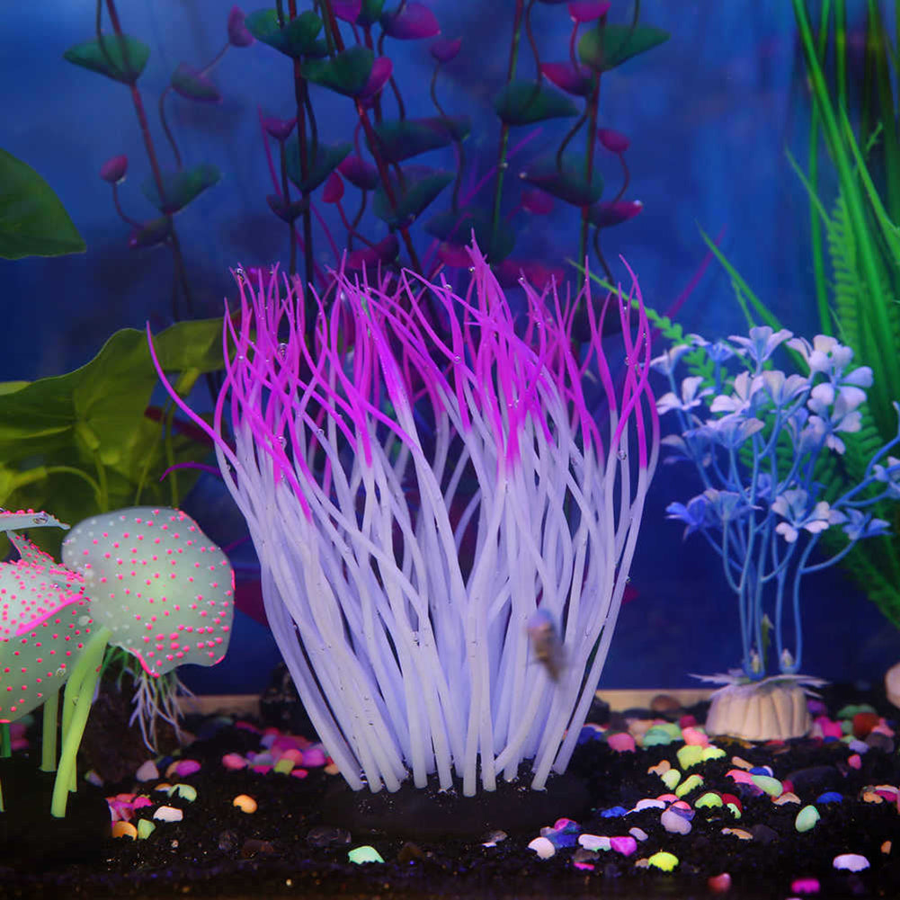MilkySkinForever Fake Aquarium Plant Water Coral Ornament Fish Tank Plastic Decor Non-toxic