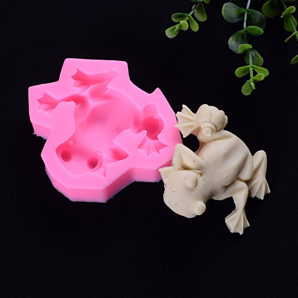 MilkySkinForever DIY Baking Handcrafts Frog Silicone Mold Chocolate Pudding Fondant Cake Decor