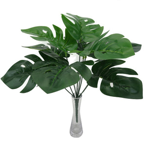 MilkySkinForever 1Pc Fake Leaf Foliage Green Indoor Outdoor Artificial Plant Office Garden Decor