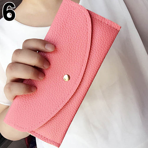 MilkySkinForever Women Fashion Thin Purse Long Clutch Wallet Faux Leather Handbag Card Holder