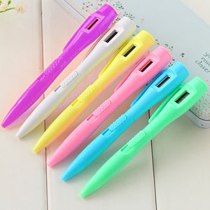MilkySkinForever Electronic Digital Watch Ballpoint Pen Student Exam Pen School Stationary Gift