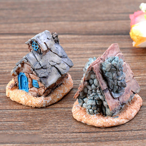 MilkySkinForever Fairy Castle Miniature Stone House Micro Landscape DIY Succulent Plants Decor