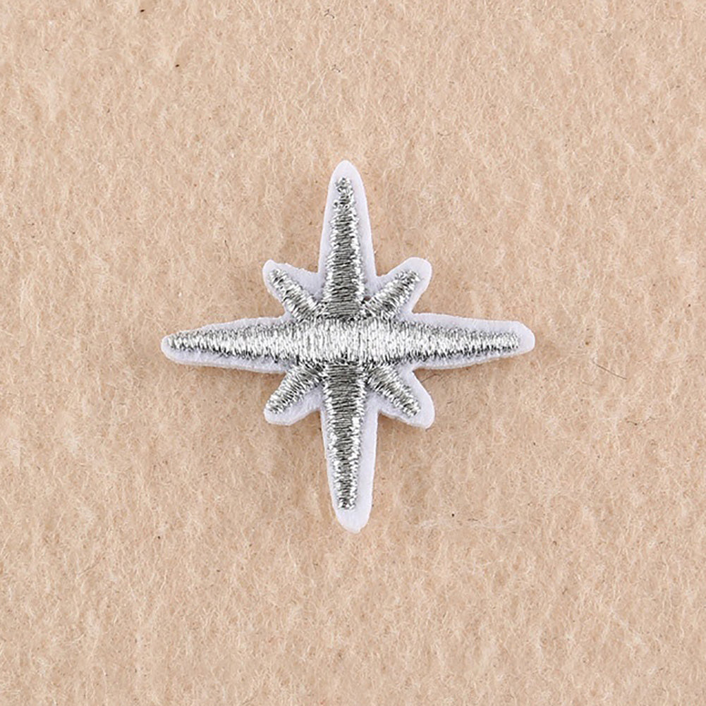 MilkySkinForever 16Pcs Embroidery Stars Universe Planet Sew Iron On Patch Hat Jeans DIY Applique