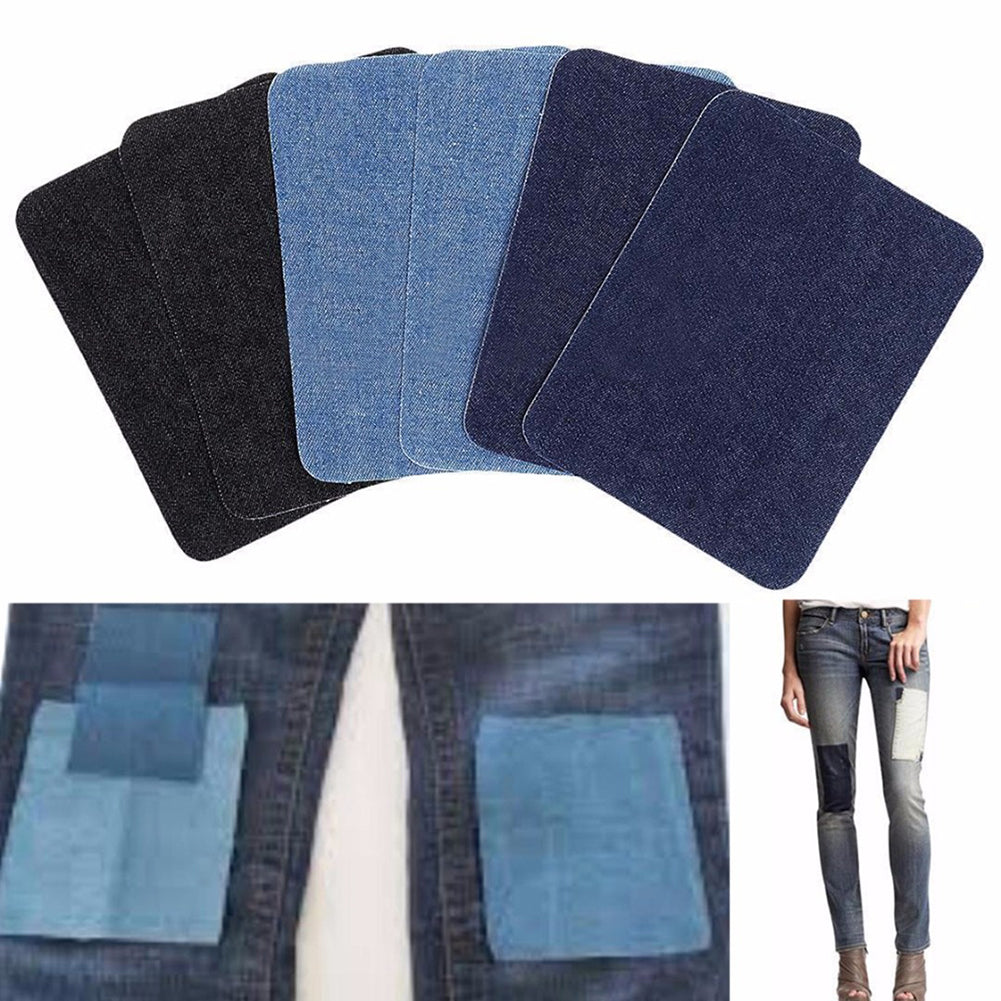 MilkySkinForever 9Pcs Iron-on Elbow Knee Repair Denim Jeans Shirt Patches Sewing Clothes Applique