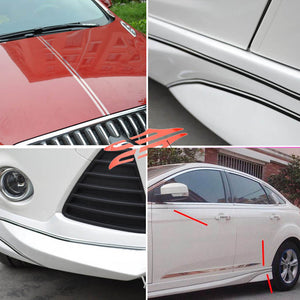 MilkySkinForever Graphics Car Waist Line Sticker Stripe Door Hood Side Skirt Decal Decoration