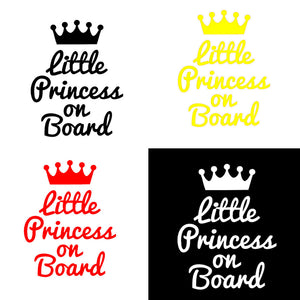 MilkySkinForever Princess On Board Car Auto Reflective Sticker Window Body Decal Decoration