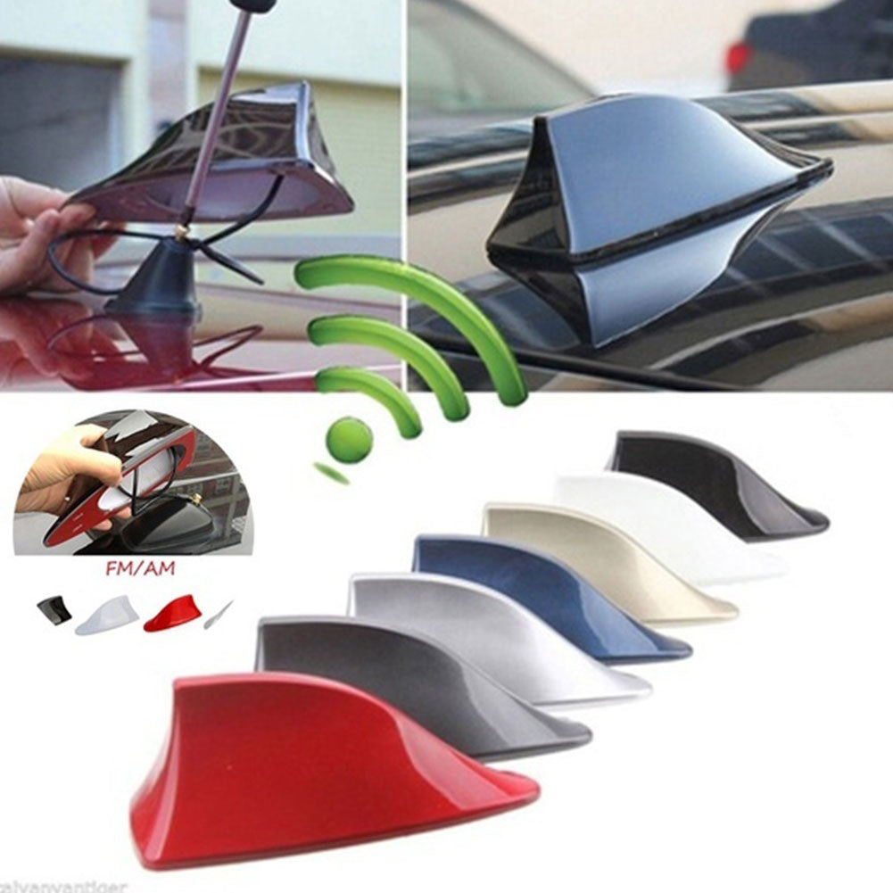 MilkySkinForever Car Exterior Roof Shark Fin Adhesive Sticker Antenna FM/AM Signal Radio Aerial