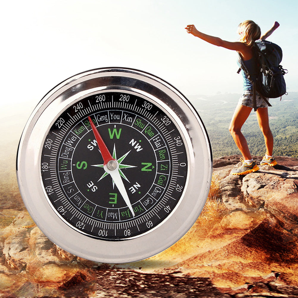 MilkySkinForever Portable Pocket Watch Style Outdoor Camping Hiking Metal Navigation Compass