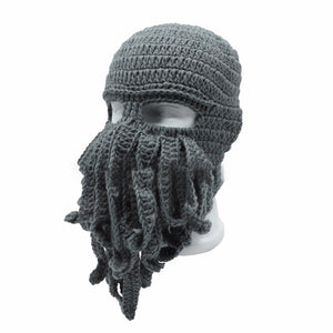 MilkySkinForever Unisex Winter Warm Octopus Tentacle Full Face Mask Knitted Hat Ski Cap Balaclava