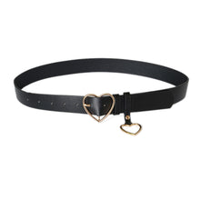Load image into Gallery viewer, Women Party Dress Faux Leather Heart Metal Pin Buckle Waist Belt Strap Waistband