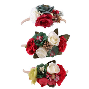 MilkySkinForever Fashion Cloth Faux Flower Baby Hairband Photo Taking Party Infant Headband Decor