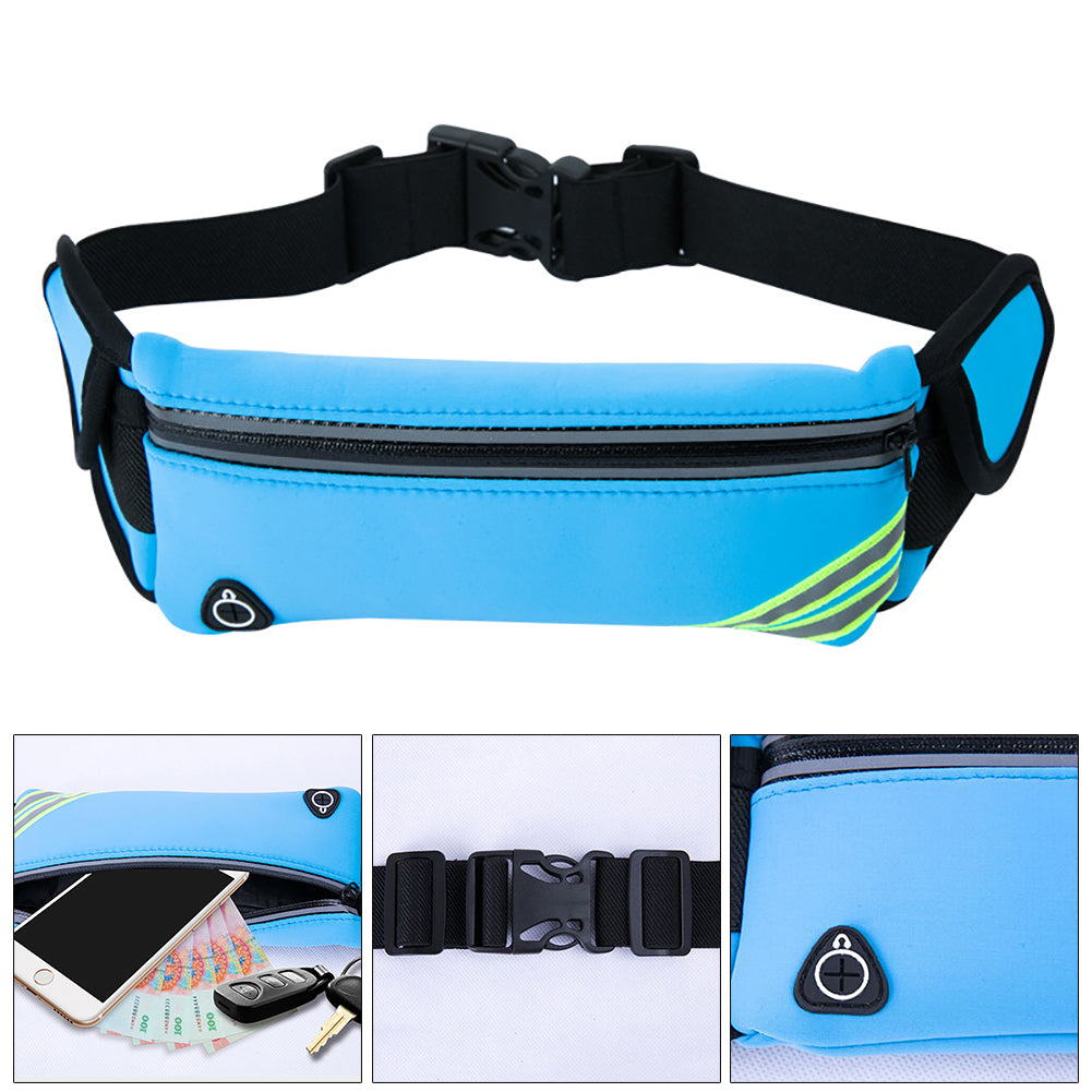 MilkySkinForever Outdoor Sports Reflective Waterproof Waist Bag Wallet Bum Belt Unisex Fanny Pack