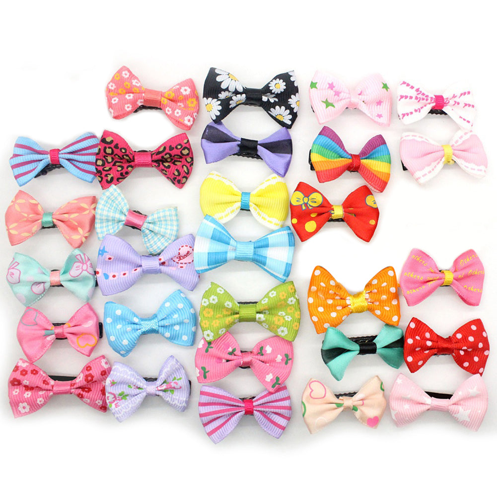MilkySkinForever 10Pcs Mixed Color Baby Girls Flower Dot Bowknot Hair Clips Set Hairpin Headwear