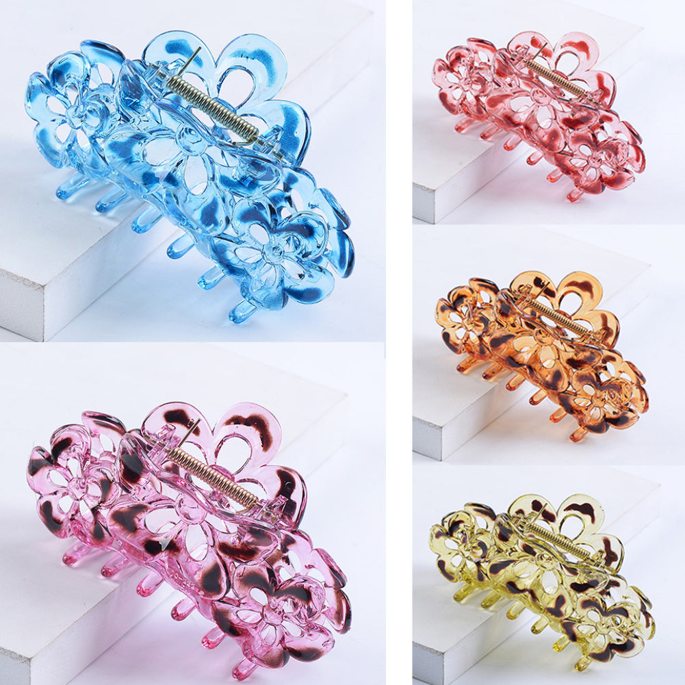 MilkySkinForever Women Girl Hairpin Hair Claw Clamp Clip Solid Color Flower Accessory Headwear