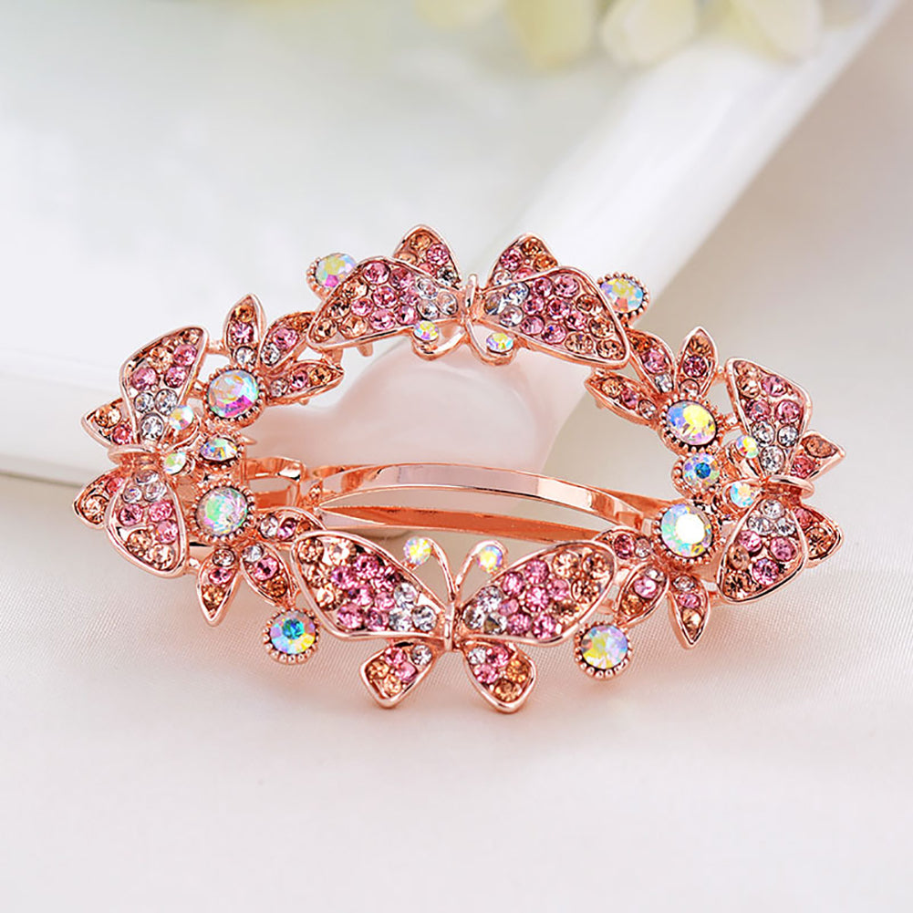 MilkySkinForever Women Butterfly Rhinestones Hairpin Hair Clip Accessory Jewelry Decor Headdress