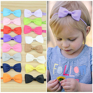 MilkySkinForever 10Pcs Infant Baby Girl Cute Bow Headband Newborn Hair Band Headdress Headwear