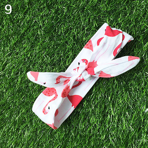 MilkySkinForever Kid Baby Girls' Cute DIY Rabbit Ear Turban Knot Headband Hair Band Head Wrap