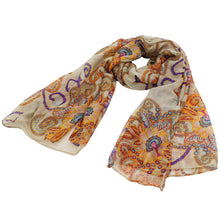 Load image into Gallery viewer, Retro Boho Floral Print Long Soft Scarf Shawl Wrap Stole Women Birthday Gift