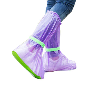 MilkySkinForever Unisex Portable Outdoors Travel Anti Slip Rain Shoes Covers Waterproof Boots