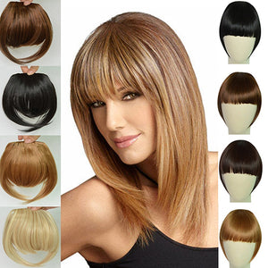 MilkySkinForever Fashion Women Girl Synthetic Hair Clip on Front Fringes Bangs Hair Extension