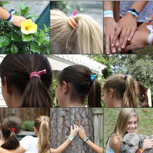 6Pcs Women Lovely Knotted Elastic Hair Band Rope Ponytail Holder Hair Ties