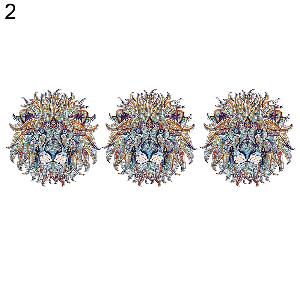 MilkySkinForever Iron-on Transfer Clothes Patches Cool 3D Lion Pattern Stickers for Tops T-shirt